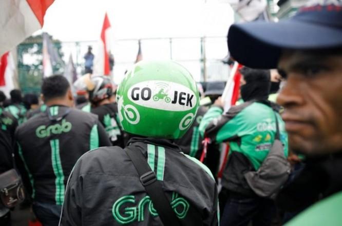 Hàng ngàn xe ôm công nghệ Indonesia biểu tình đòi mức giá chở khách xứng đáng hơn ảnh 3