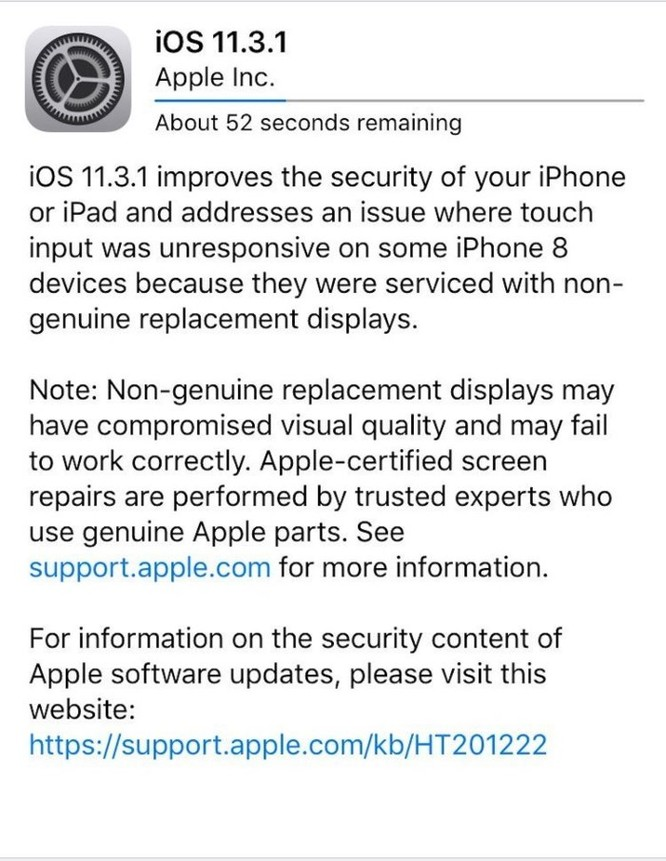 Apple cảnh báo người dùng iOS mới nhất: 'không để bên thứ ba sửa chữa iPhone và iPad' ảnh 1