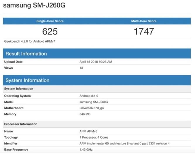 Rò rỉ Samsung Galaxy J2 Core chạy Android Go ảnh 2