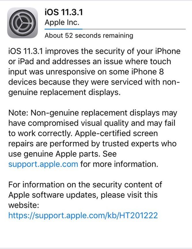 iOS 11.3.1 vừa phát hành có gì nổi bật? ảnh 1