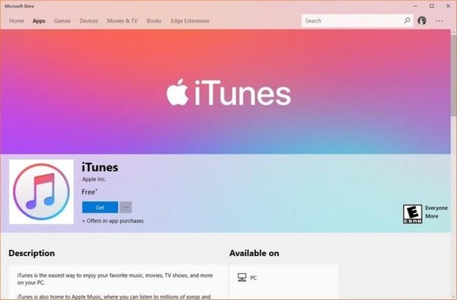 Kho nhạc số trực tuyến Apple iTunes đã chính thức có mặt trên Windows 10 ảnh 1
