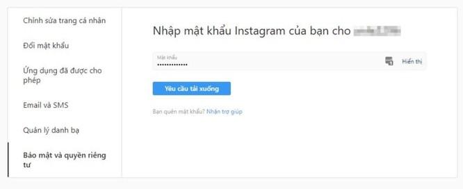 Cách tải dữ liệu trên Instagram về máy tính ảnh 6