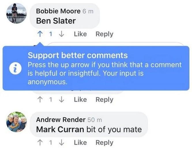 Facebook đang thử nghiệm nút bày tỏ quan điểm upvote/downvote giống với Reddit ảnh 2