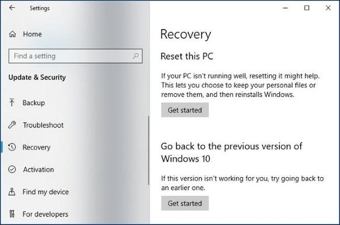 Cách giải phóng 10GB dung lượng ổ đĩa sau khi cài bản cập nhật April 2018 của Windows 10 ảnh 2