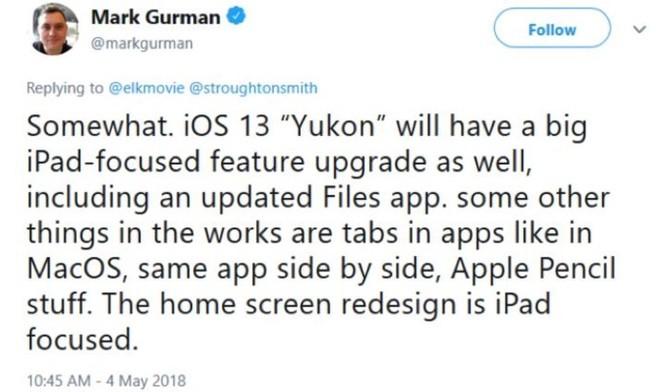 iOS 13 ra mắt năm 2019 sẽ tập trung vào iPad, thiết kế lại màn hình chính? ảnh 2