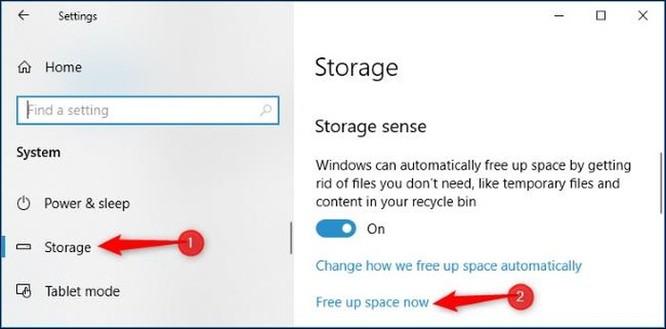 Cách giải phóng 10GB dung lượng ổ đĩa sau khi cài bản cập nhật April 2018 của Windows 10 ảnh 3
