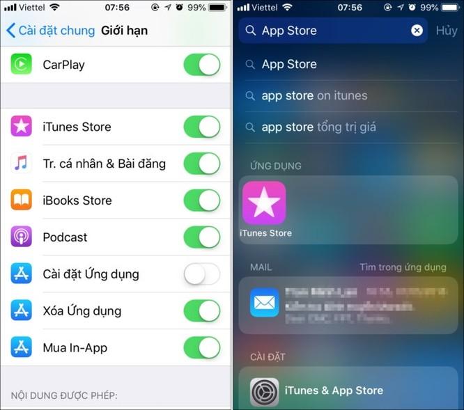 Mẹo cấm trẻ em cài đặt hoặc xóa ứng dụng trên iPhone, iPad ảnh 4
