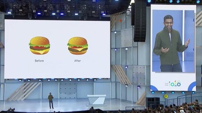 Tại sao CEO Google phải xin lỗi về biểu tượng cảm xúc bánh burger? ảnh 1