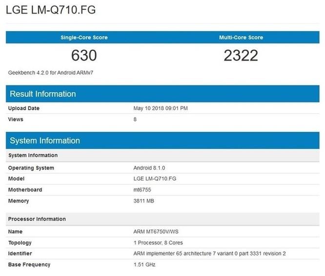 Lộ cấu hình LG Q7: Bản rút gọn của G7, dùng chip MediaTek, 4GB RAM ảnh 2