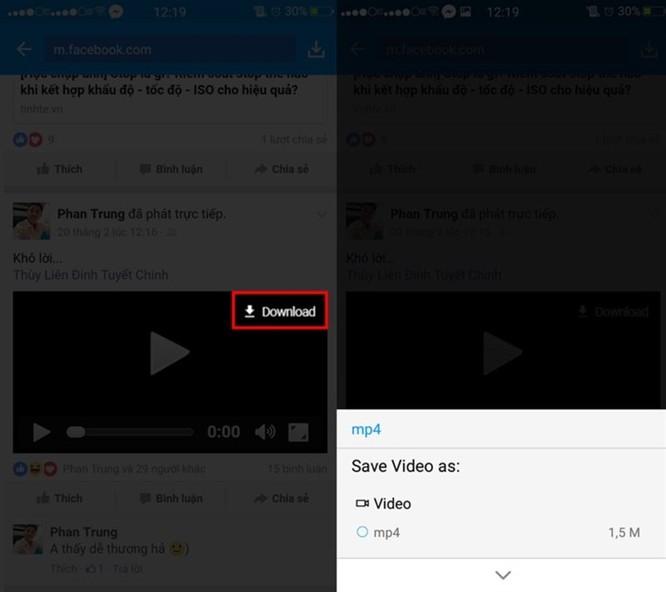 3 cách tải video Facebook chất lượng cao về điện thoại và máy tính ảnh 7