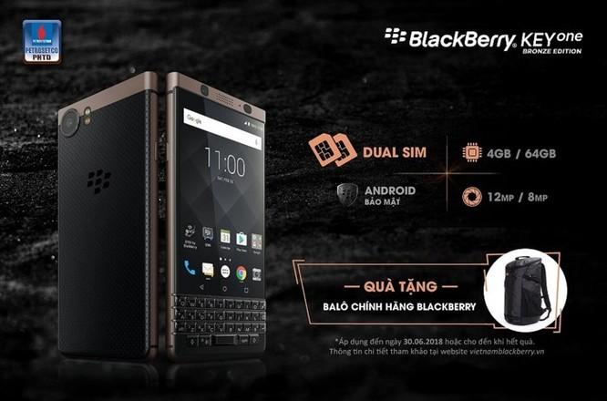 BlackBerry KEYone Bronze Edition chính thức lộ diện ảnh 1