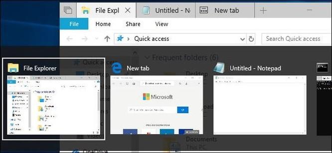 Windows 10 đã thay đổi cách thay đổi hoạt động của tổ hợp phím Alt+Tab ảnh 1