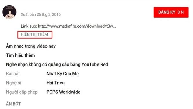 Đây là cách biết ngay tên bài hát trong video trên YouTube ảnh 2