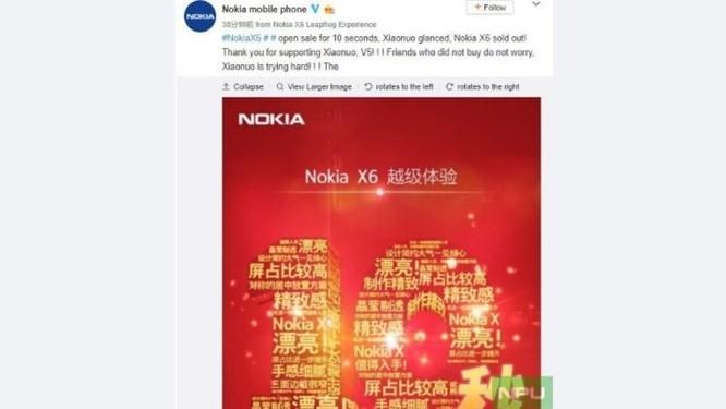 Nokia X6 bán hết hàng chỉ trong 10 giây đồng hồ ảnh 2