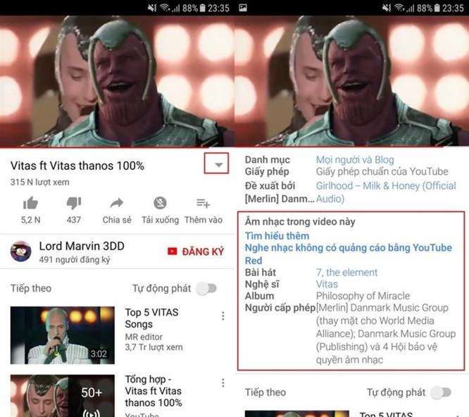 Đây là cách biết ngay tên bài hát trong video trên YouTube ảnh 3