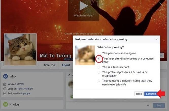 Hướng dẫn báo cáo tài khoản Facebook mạo danh ảnh 3