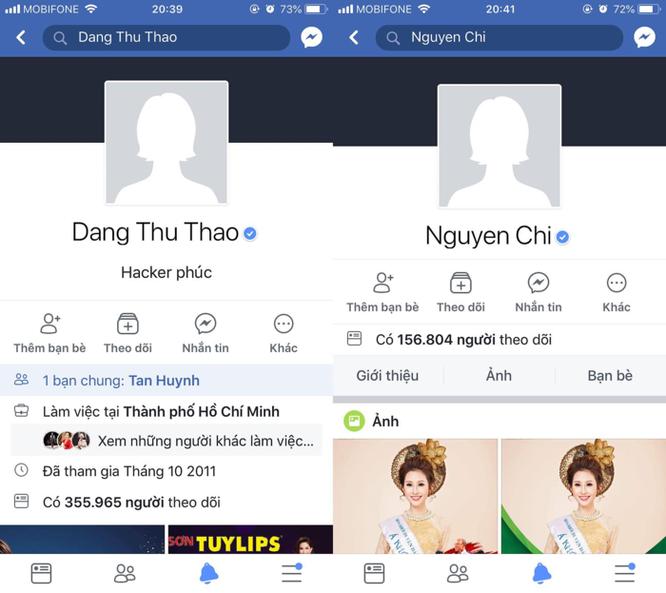 Facebook Đặng Thu Thảo, Khả Ngân, Nam Thư... bị hack ảnh 1
