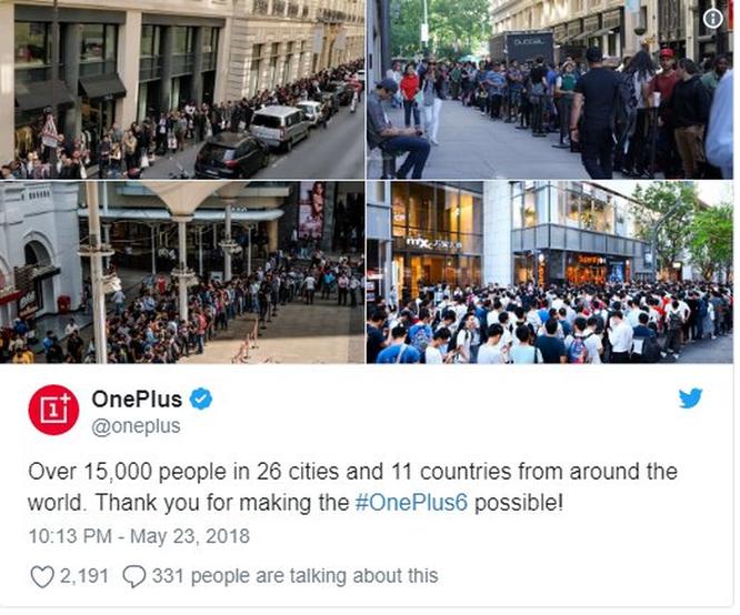 Điện thoại OnePlus 6 giá 530 USD khiến người dân New York 'phát sốt' không kém gì iPhone mới ảnh 4