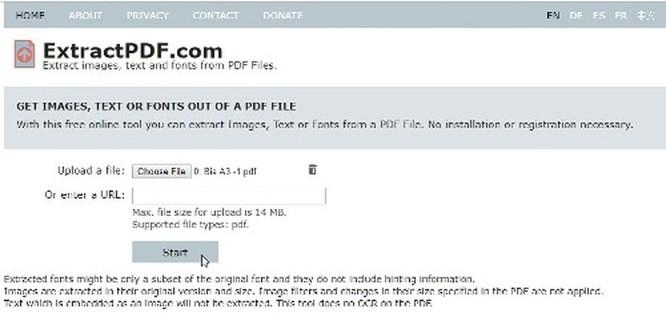 Cách trích xuất Font chữ từ file PDF ảnh 1