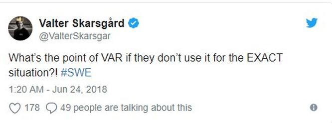 Công nghệ VAR không được sử dụng tại trận Đức - Thụy Điển khiến cư dân mạng ấm ức ảnh 5