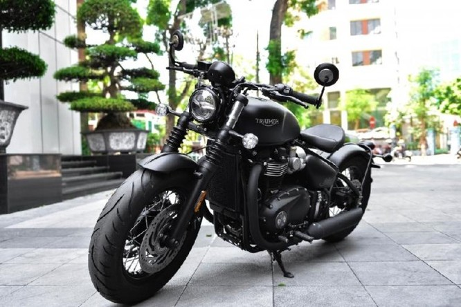 Ngắm Triumph Bobber black 2018 bản đen mờ tại Hà Nội ảnh 5