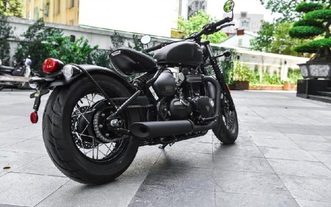 Ngắm Triumph Bobber black 2018 bản đen mờ tại Hà Nội ảnh 7