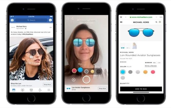 Quảng cáo trên Facebook sắp hỗ trợ AR, cho phép thử đồ ngay trước khi mua ảnh 1