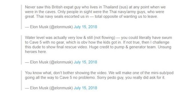 Elon Musk công kích thợ lặn người Anh 'dám' nói tàu ngầm giải cứu 'chỉ là chiêu trò đánh bóng tên tuổi' ảnh 1