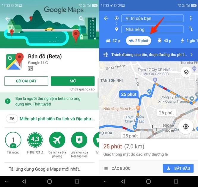 Cách tìm đường đi bằng xe máy trên Google Maps ảnh 2
