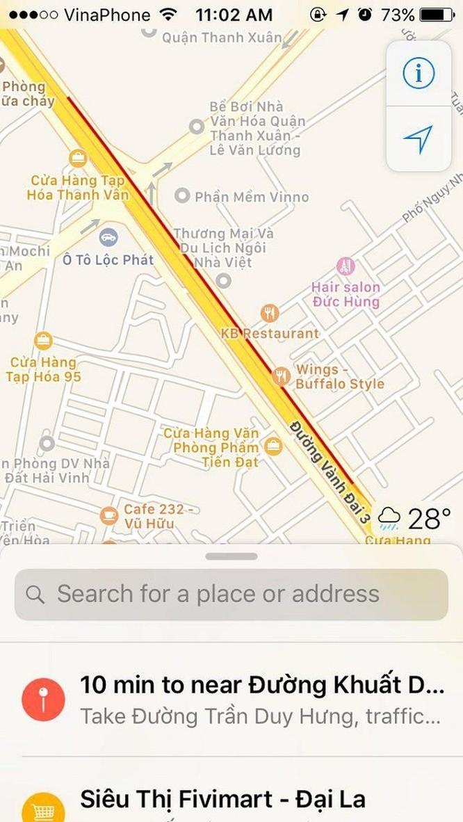 Hướng dẫn cách xem tắc đường trực tuyến cho iPhone ảnh 5