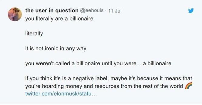 Tỉ phú Elon Musk cảm thấy bị xúc phạm khi được truyền thông gọi là 'tỉ phú'! ảnh 2