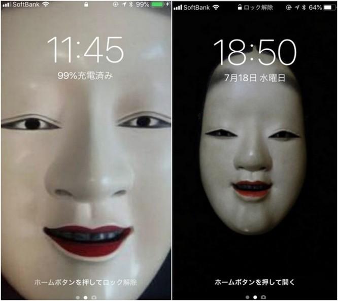 Ngăn trẻ nghịch smartphone, các bà mẹ Nhật chơi chiêu đặt hình nền ma quỷ ảnh 1
