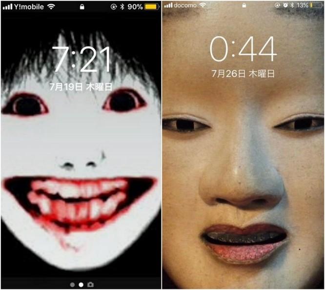 Ngăn trẻ nghịch smartphone, các bà mẹ Nhật chơi chiêu đặt hình nền ma quỷ ảnh 2
