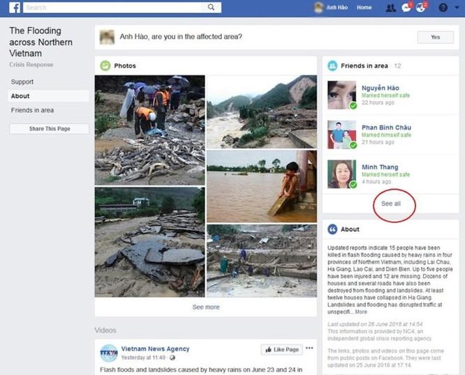 Địa chỉ Facebook kiểm tra an toàn trong vụ vỡ đập ở Lào khiến hàng trăm người mất tích ảnh 2