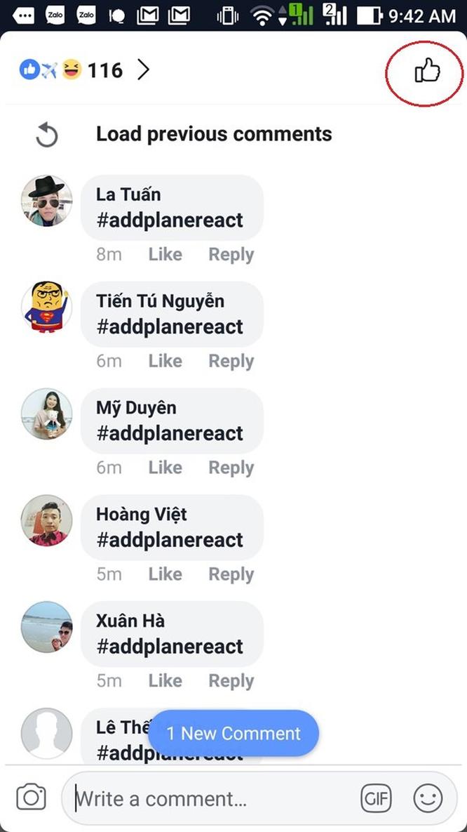 Hướng dẫn gửi biểu cảm máy bay 'addplanereact' đang hot nhất trên mạng hôm nay ảnh 4