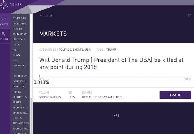 Xuất hiện thị trường ám sát nhân vật nổi tiếng qua blockchain, Donald Trump nằm trong tầm ngắm ảnh 2