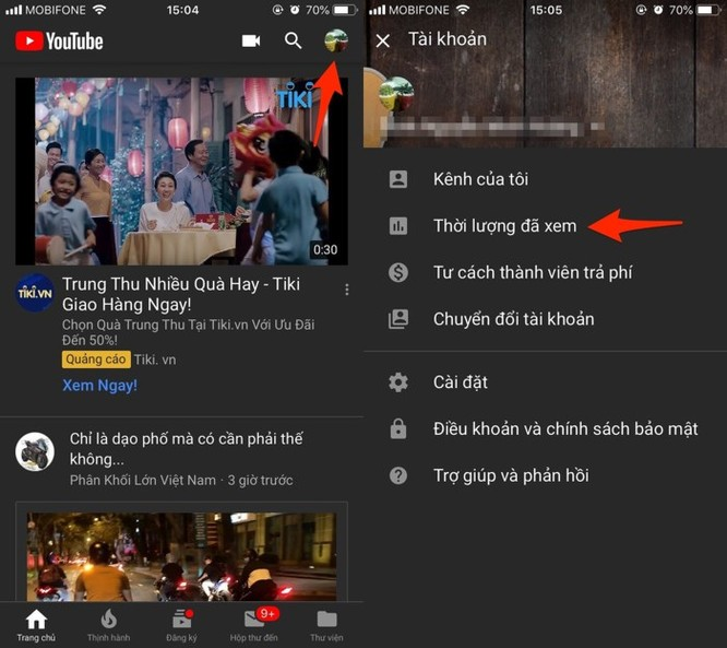 Làm thế nào để xem thời gian sử dụng YouTube? ảnh 1