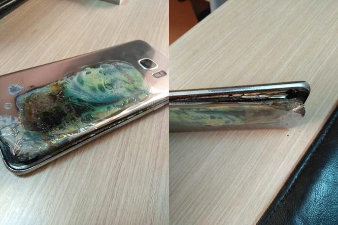 Samsung Galaxy S7 Edge bất ngờ phát nổ ảnh 1