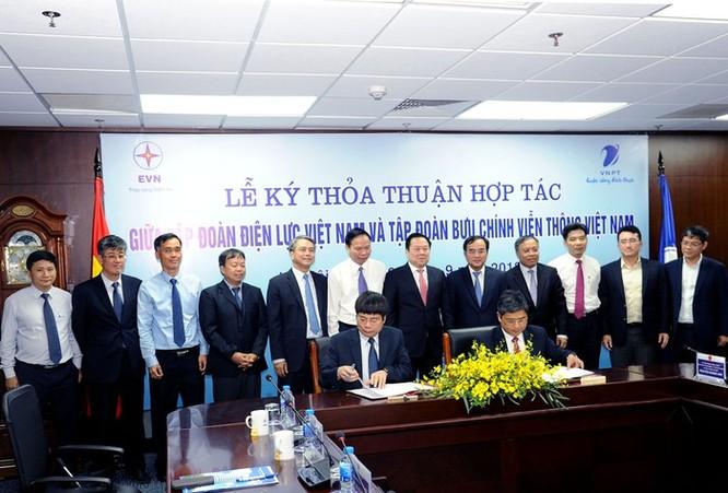 VNPT ký kết thỏa thuận hợp tác với EVN ảnh 1