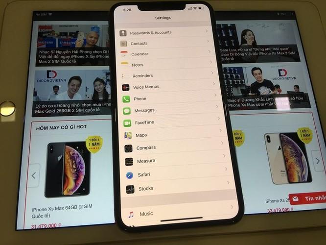 Cách sử dụng 2 SIM cùng lúc trên iPhone XS Max quốc tế ảnh 1