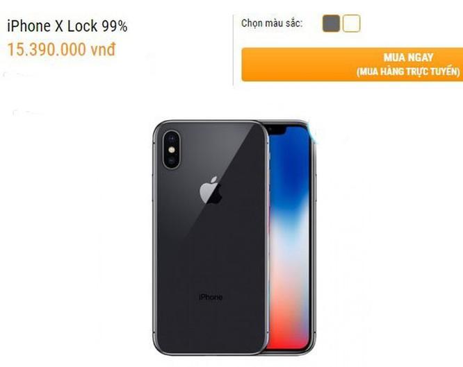 Nối gót hàng chính hãng, iPhone X lock sụt giá mạnh ảnh 2