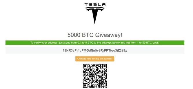 Mạo danh Elon Musk để lừa tặng Bitcoin, Tesla Model 3 ảnh 2