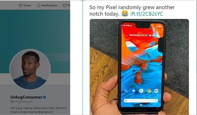 Pixel 3 XL bị lỗi phần mềm 'mọc' thêm tai thỏ ở cạnh bên màn hình ảnh 3