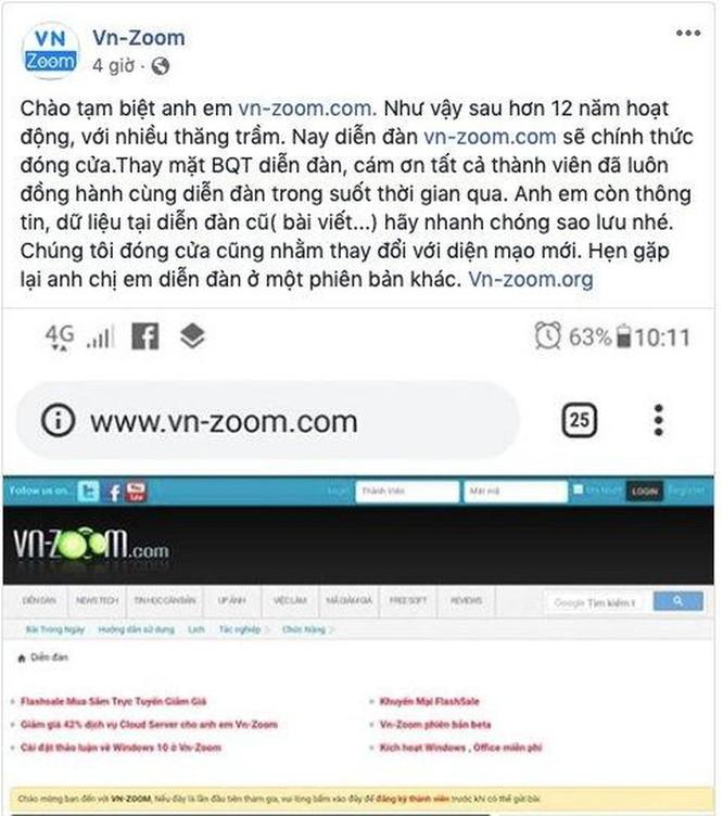 VN-Zoom.com, diễn đàn lâu đời về máy tính, sẽ 'đóng cửa' ảnh 1