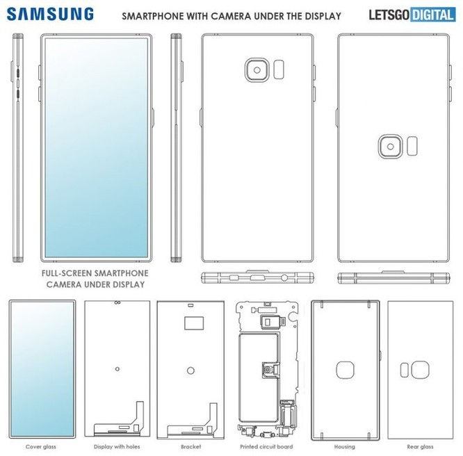 Samsung lần đầu ra mắt smartphone với cảm biến và camera dưới màn hình ảnh 3