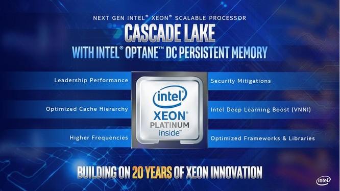 Intel nâng cấp dải sản phẩm Xeon với Cascade Lake và E-2100 mới ảnh 1