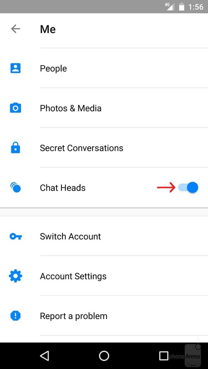 Cách tắt chat head trong Facebook Messenger trên Android mới nhất ảnh 3