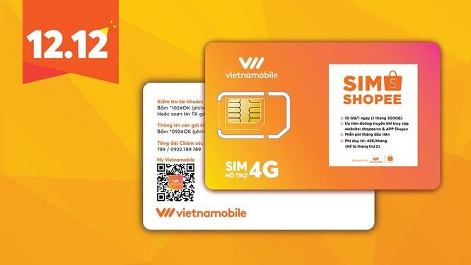 Vietnamobile cùng shopee ra mắt sim độc quyền chào đón lễ hội mua sắm trực tuyến 12.12 ảnh 1