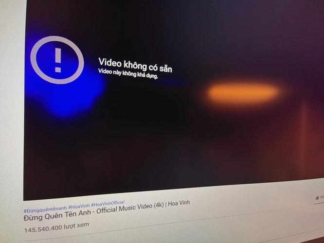 Kênh YouTube trên trăm triệu lượt xem của Hoa Vinh biến mất ảnh 1