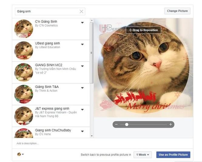 Hướng dẫn thay khung ảnh đại diện Facebook chủ đề Giáng sinh ảnh 1